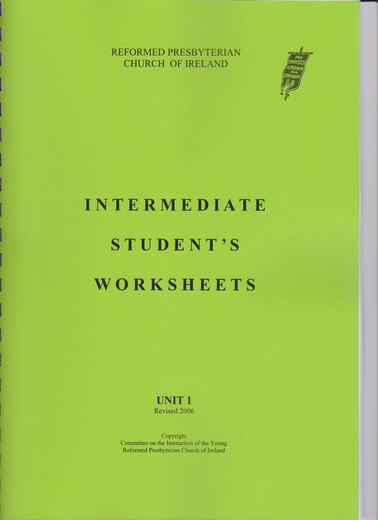 Intermediate Student's Workbook Unit 1