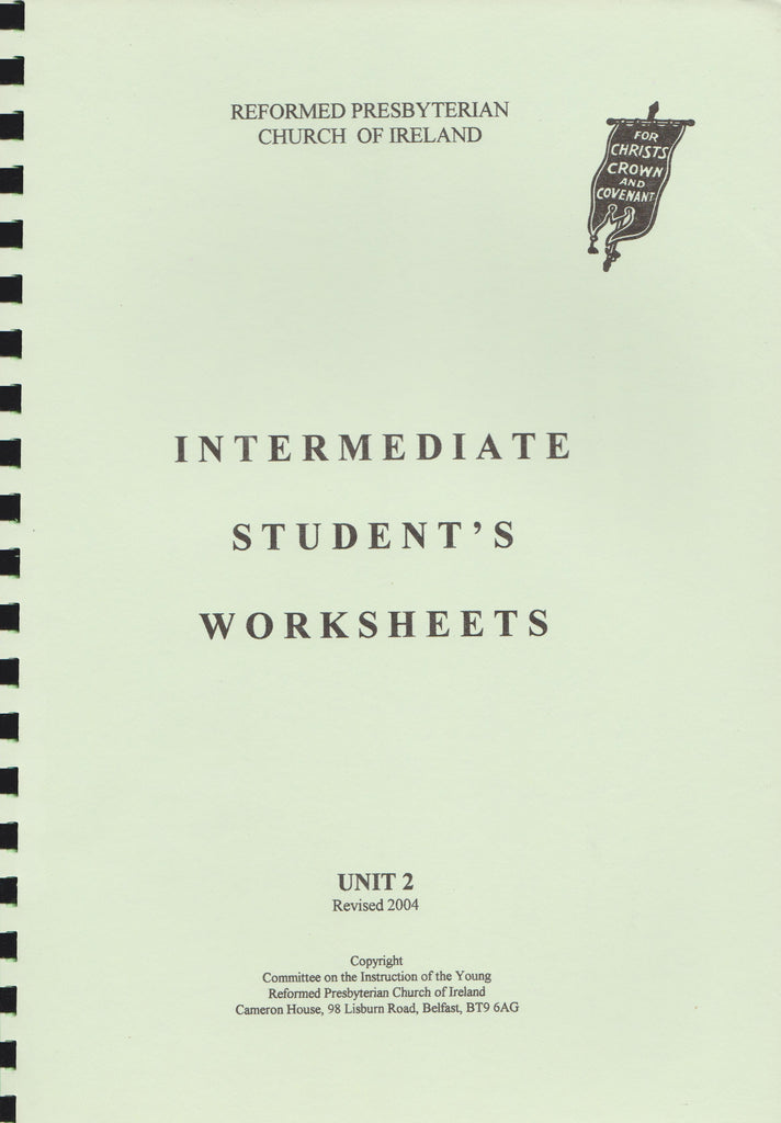 Intermediate Student's Worksheets Unit 2