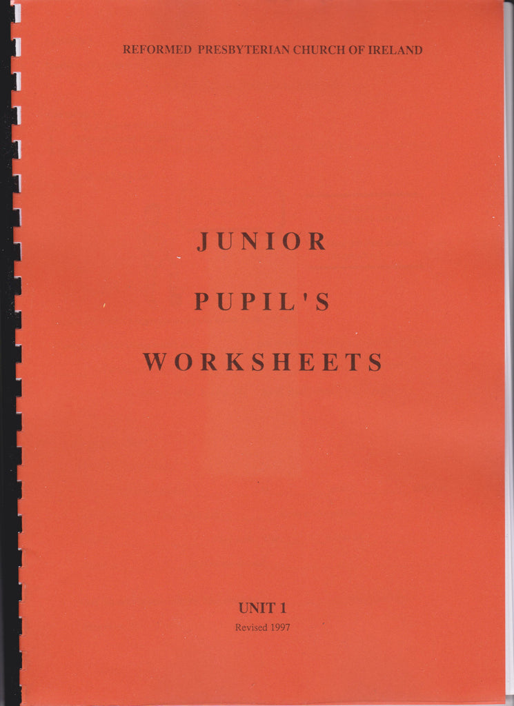 Junior Pupil's Worksheets Unit 1
