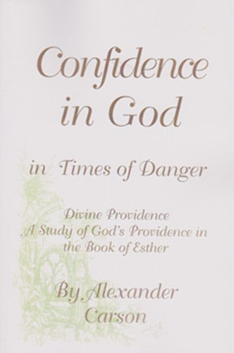 Confidence In God In Times Of Danger PB
