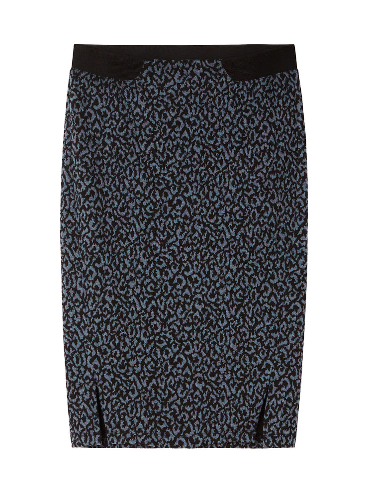 Graphite Animal Print Skirt