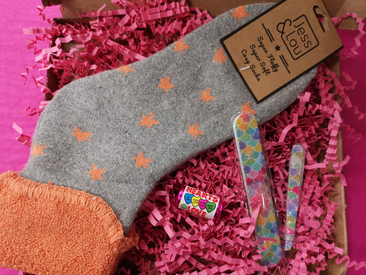 Orange star sock bundle