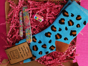 Blue animal print sock bundle
