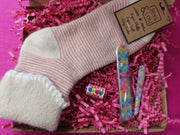 Pink stripe sock bundle