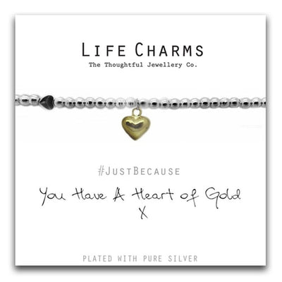 LC|LC014BW Heart of Gold Bracelet