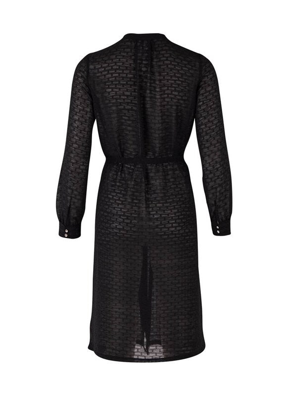 Chiffon Jacquard Shirt Dress
