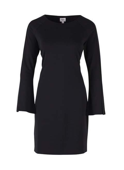 Jersey Dress with Split Sleeves