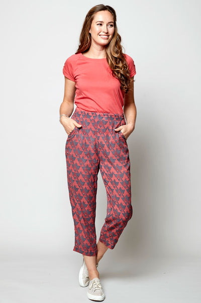 Cropped Slim Leg Trouser