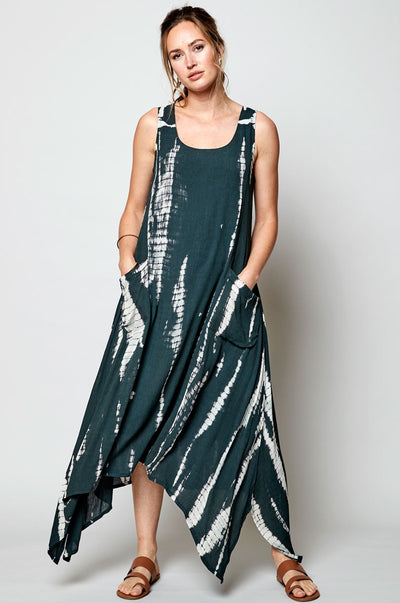 Tie-Dye Point Side Dress