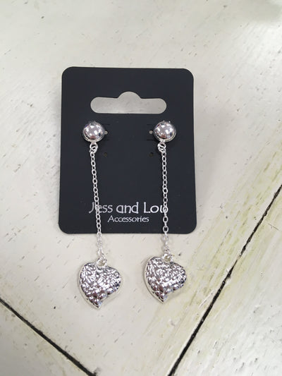 Dangle Heart Earings