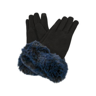 Gloves with Fake Fur Cuff