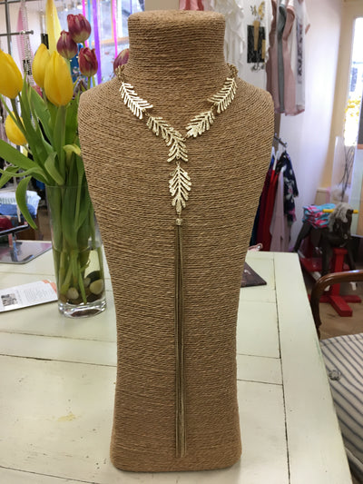 Metalic Leaf Necklace