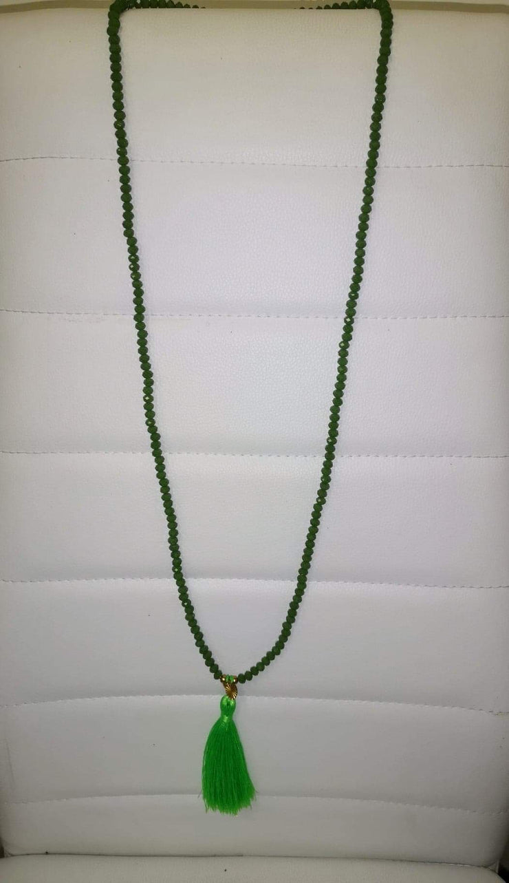 Gem Necklace with Frill