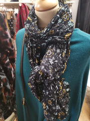 Soft Turquoise/Multi-Colour Scarf