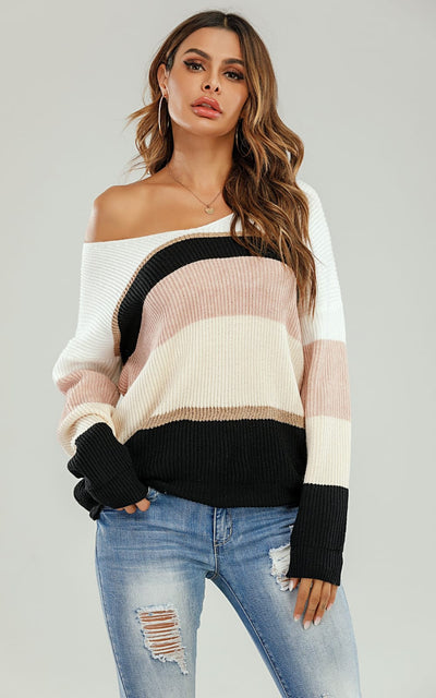 Pastel Pink Stripe Sweater