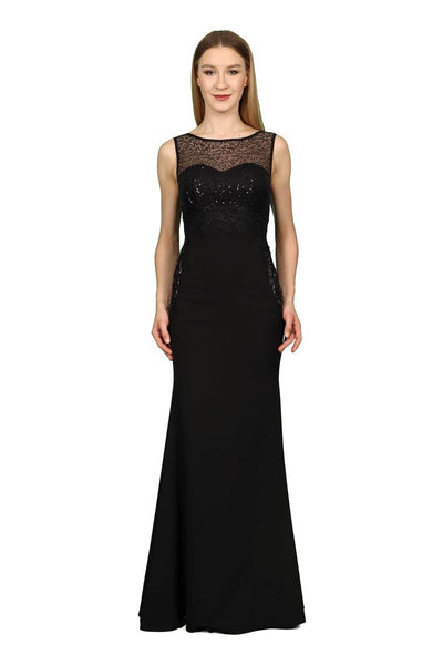 Black Sequin Decorated Evening Gown - Maxi Dress