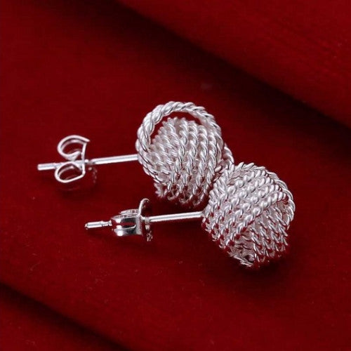 Fashion Sterling Tennis Earrings
