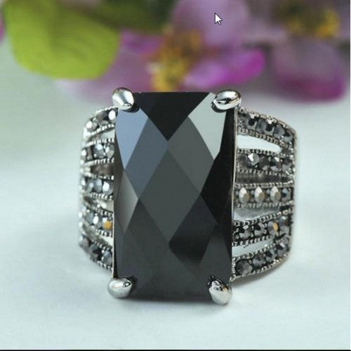 Black Square Glass Stone Crystals