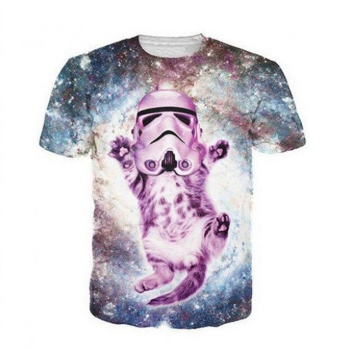 Cute Kitty Cat  Fashion Space Galaxy T shirts