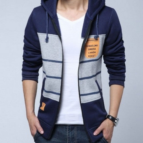 Men Fashion Autumn Patchwork Jacket
