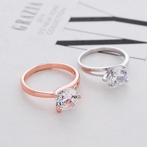 Wedding Crystal Zircon Ring Jewelry