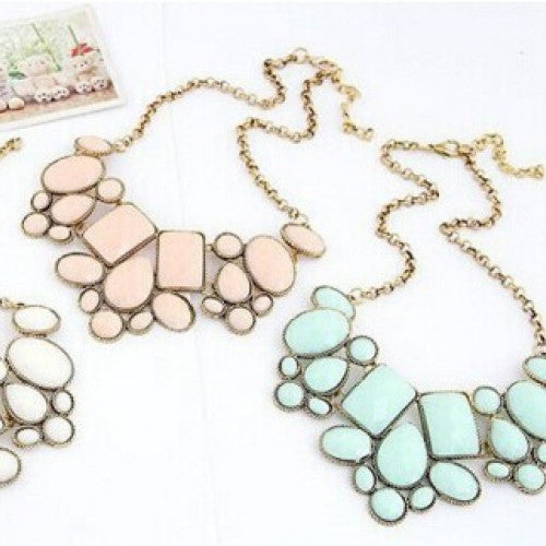 Fashionable Geometry Pendant Chain Necklace