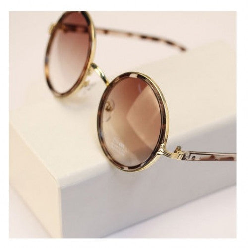 Fashion Retro Roundness Colours Sunglasses