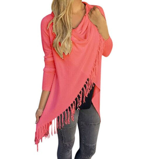 Tops Tassel Irregular Tee Shirt