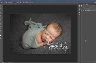 How to create a watermark brush in Photoshop