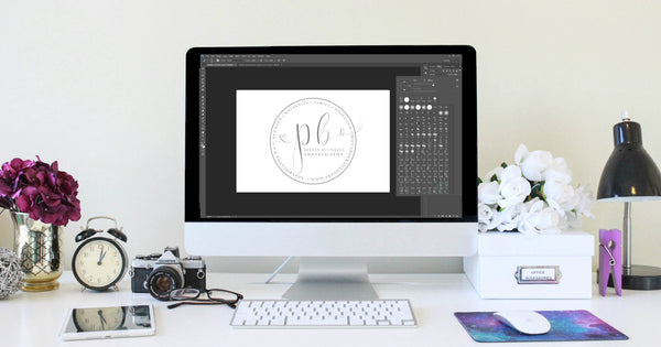 How to create your own handwritten scroll photography logo in Photoshop