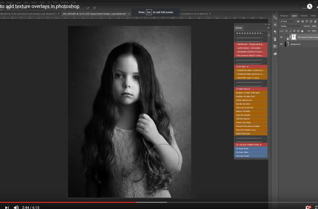 Fine Art Textures - How to use Texture Overlays in Photoshop