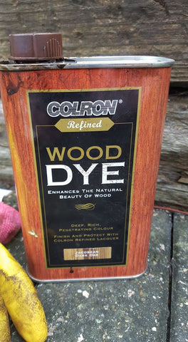 wood dye diy backdrop