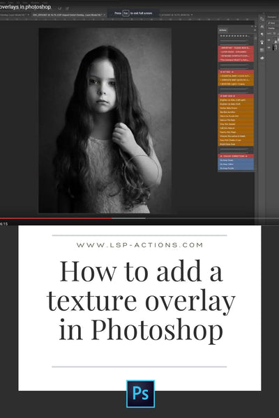 how to add texture in photoshop