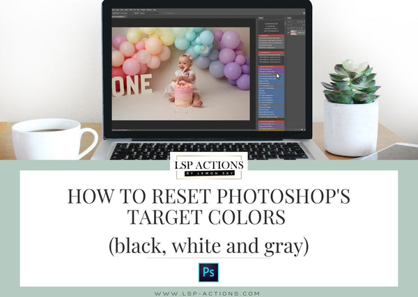 how to reset photoshop target colors black white gray in levels curves