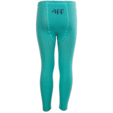 4funkyflavours turquoise On the Run footless tights - back