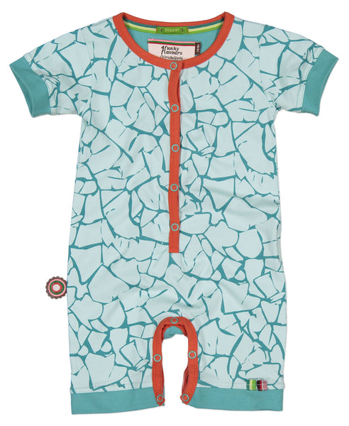 4funkyflavours Earth Beat turquoise playsuit