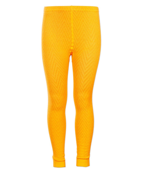 4funkyflavours yellow Legend knitted kids footless tights