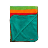 Villervalla multicolour unisex Lima stripe fleece baby blanket
