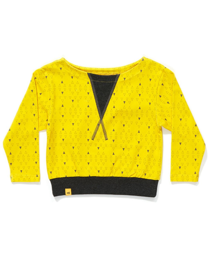 Albababy yellow triangle Fenja sweat top