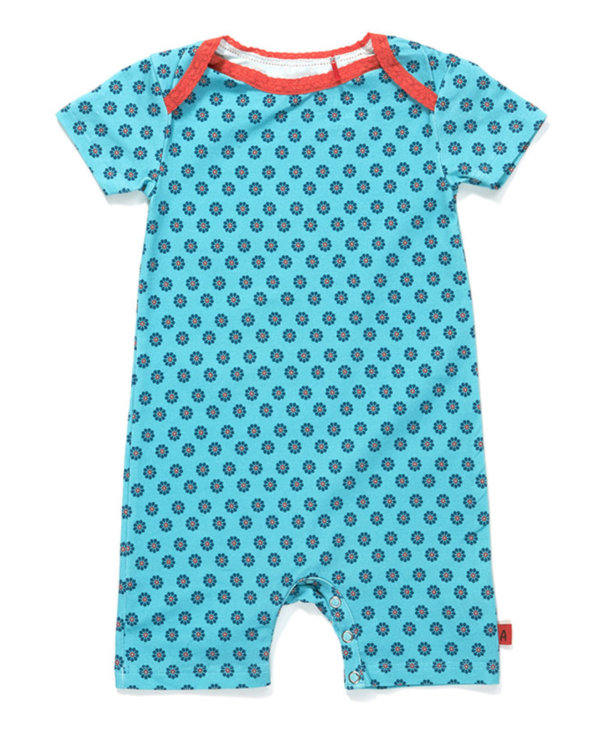 Albababy blue flower Gabby playsuit