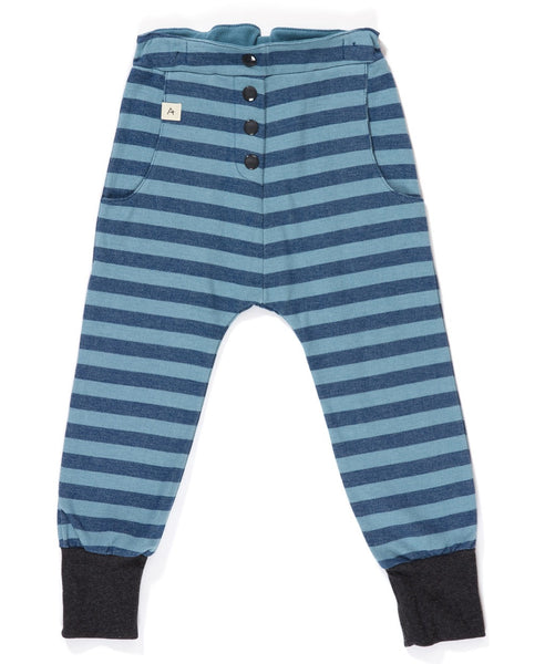 AlbaBaby estate blue stripe Hai button pants