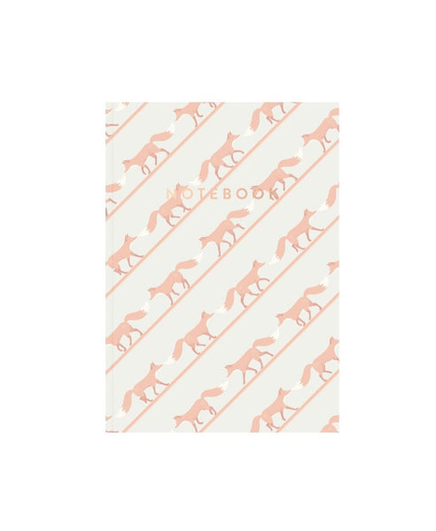 AHA Design pink quinnstripe notebook