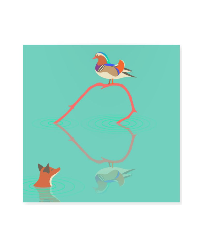 AHA Design mandarin duck greeting card