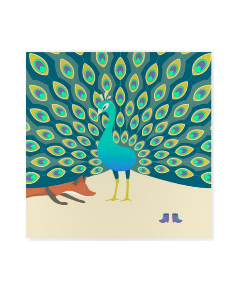AHA Design peacock card
