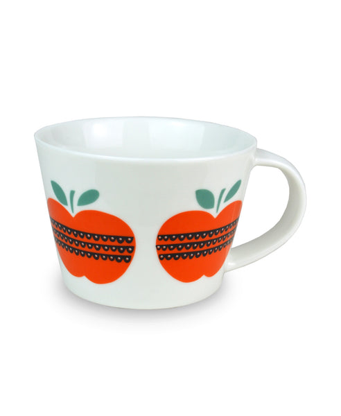 Becky Baur apples mug