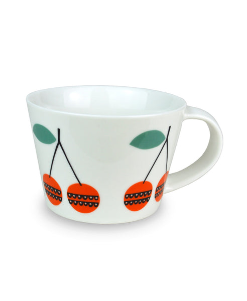 Becky Baur cherries mug