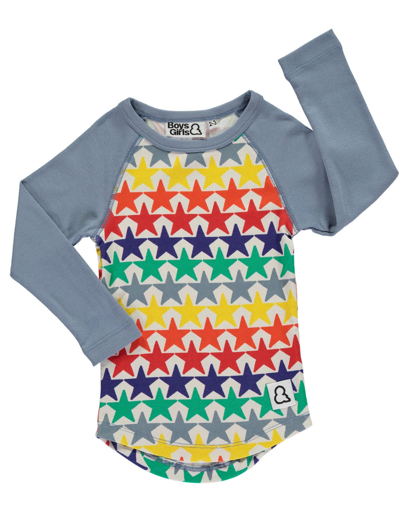Boys&Girls bright stars raglan sleeve top