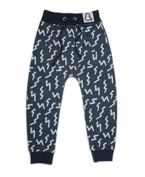 Boys&Girls grey wiggly kanga pants