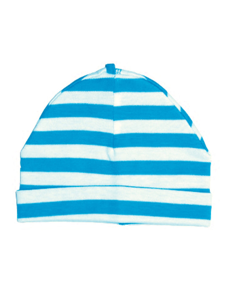 Canboli blue striped baby hat