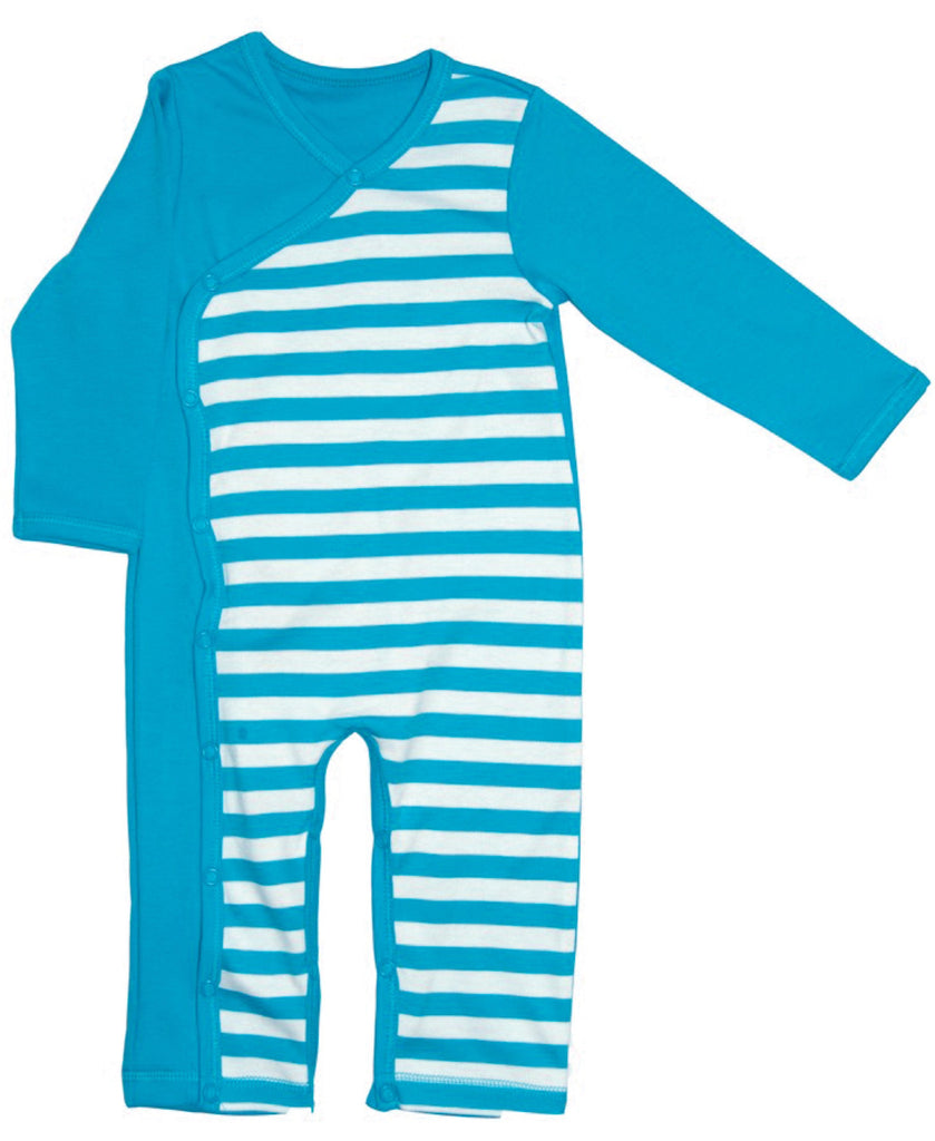 Canboli blue striped romper